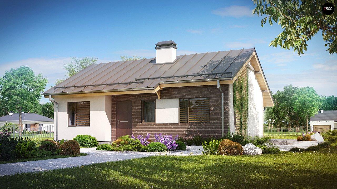 Простой и недорогой в строительстве одноэтажный дом небольшой площади. 1