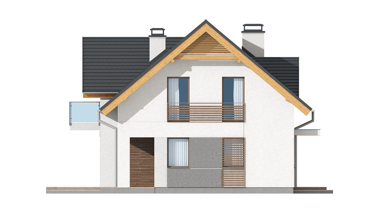 Небольшой стильный и практичный дом с мансардными окнами. - фото 17