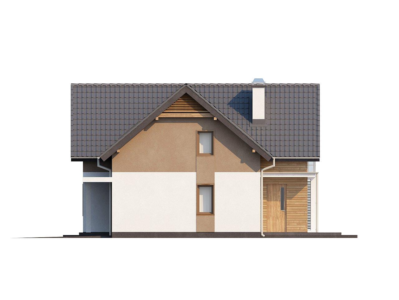 Проект удобного функционального дома с мансардой и гаражом  7