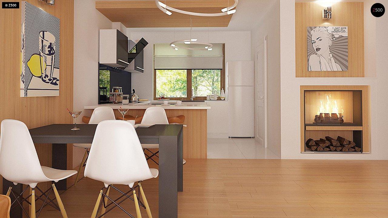 Проект одноэтажного классического дома адаптированного для каркасной технологии строительства. - фото 7