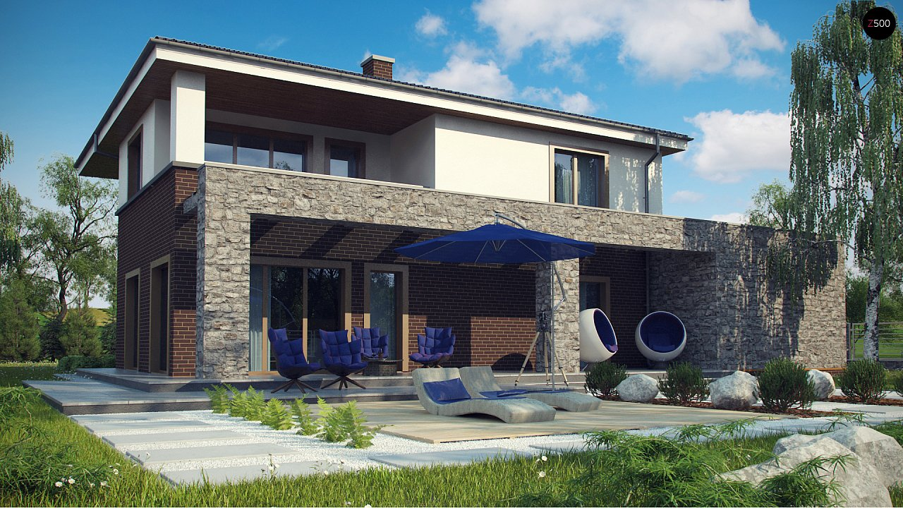 Проект дома с сауной в традиционном стиле - фото 3