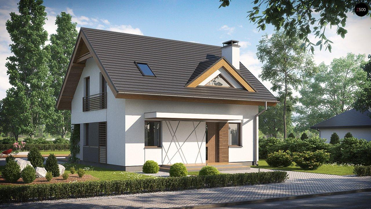 Небольшой стильный и практичный дом с мансардными окнами. - фото 1