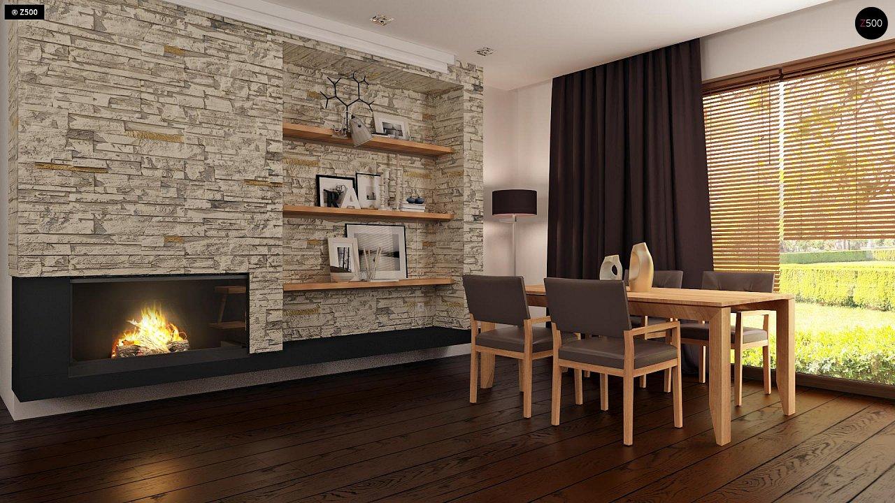 Проект небольшого практичного одноэтажного дома. Есть возможность обустройства чердачного помещения. 5