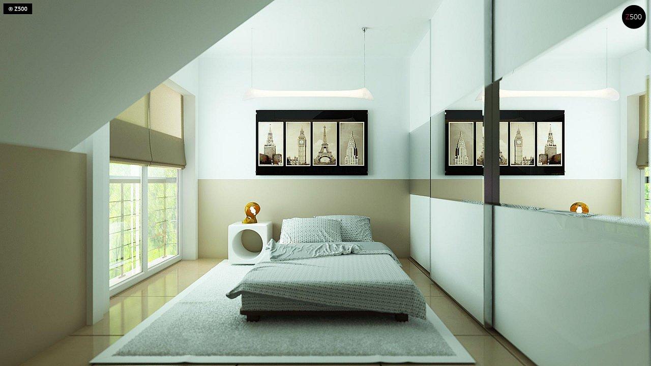 Комфортный дом привлекательного дизайна с дополнительной комнатой над гаражом. 14