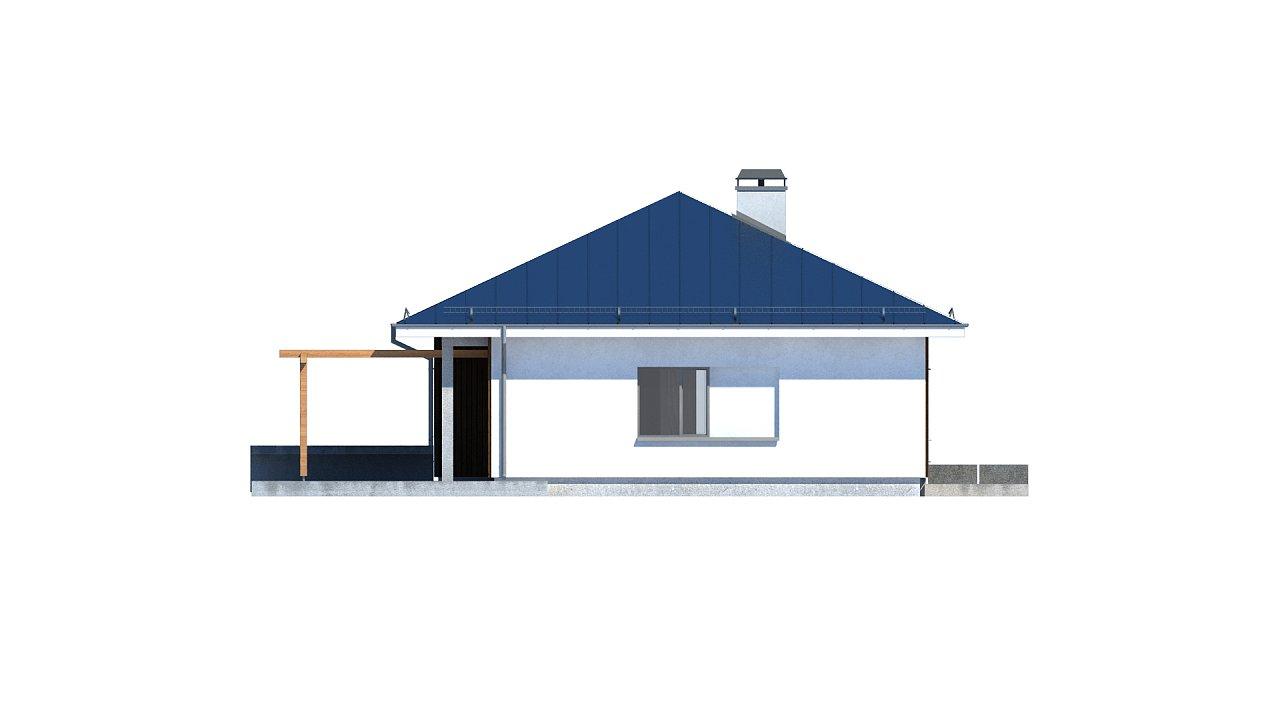 Практичный одноэтажный дом традиционной формы с многоскатной крышей. 28
