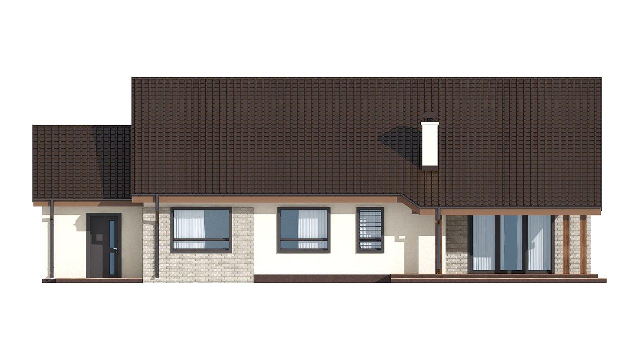 Зеркальное отображение проекта Z98 с гаражом с правой стороны - фото 17