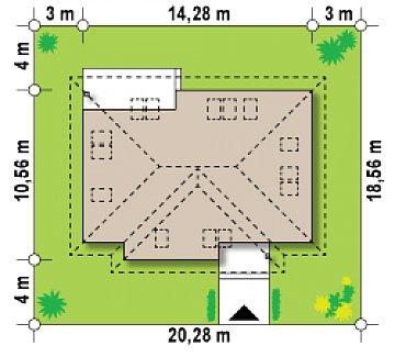 Просторный комфортабельный дом с необычной планировкой второго этажа. план помещений 1