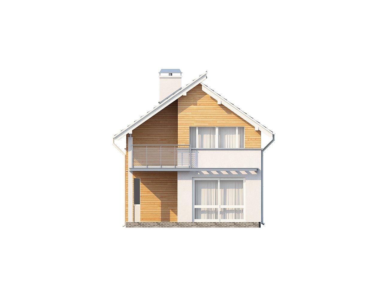 Энергоэффективный и удобный дом с современными элементами отделки фасадов. Подходит для узкого участка. - фото 4