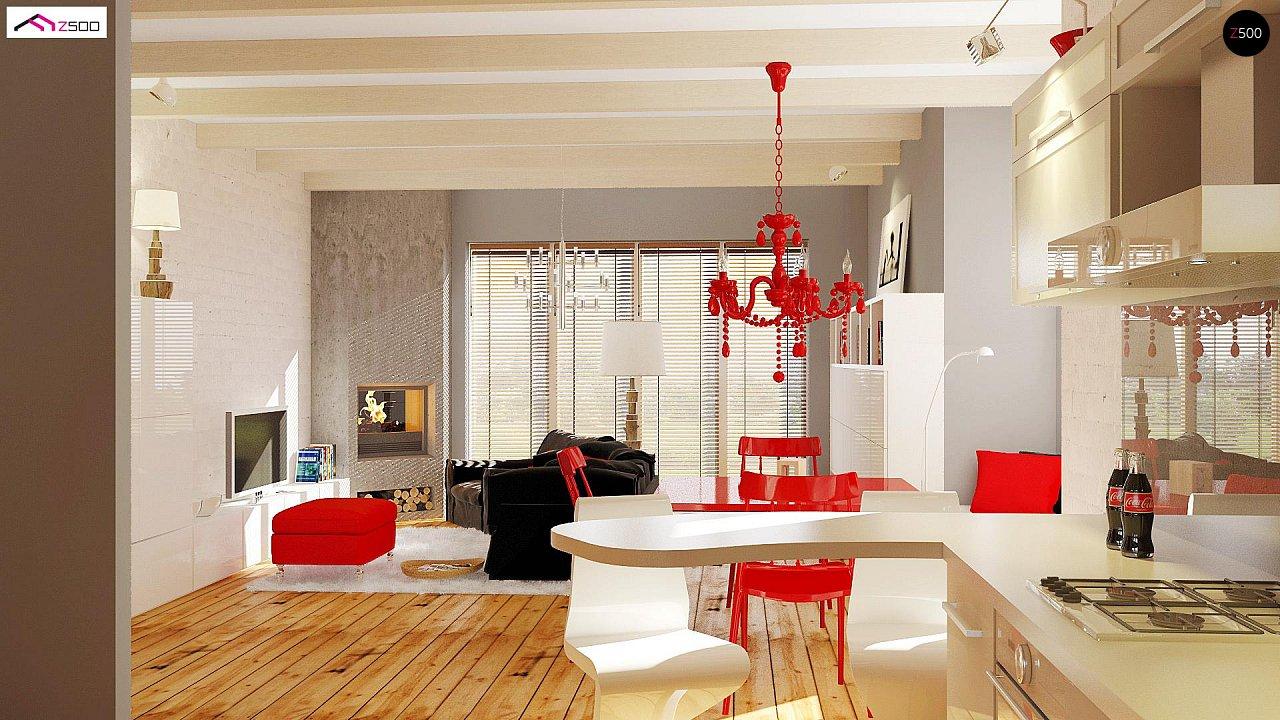 Одноэтажный удобный дом с фронтальным гаражом, с возможностью обустройства мансарды. - фото 5