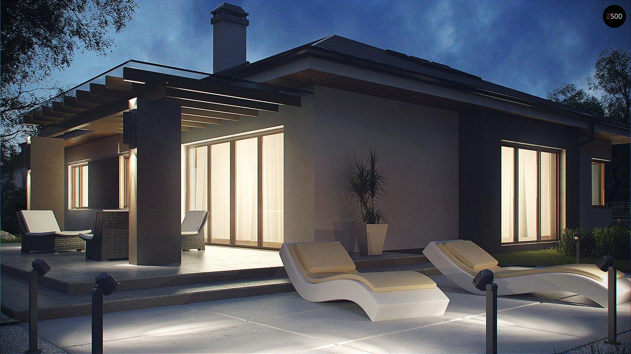 Комфортный элегантный дом с тремя спальнями и выступающим фронтальным гаражом. 4