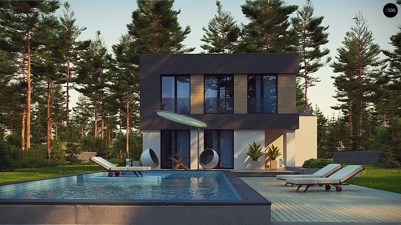 Двухэтажный дом с гаражом на две машины 5