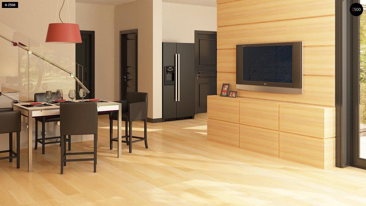 Версия двухэтажного дома Zx24 c увеличенным гаражом для двух машин 6