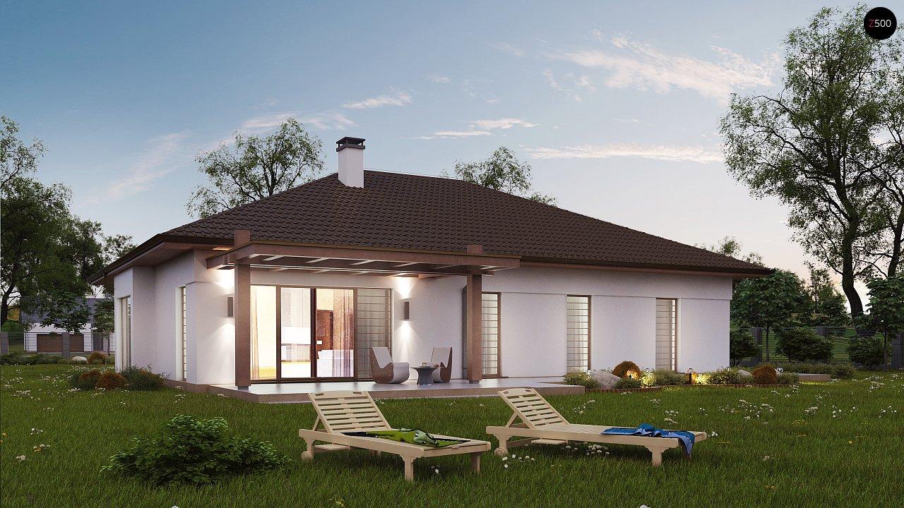 Удобный функциональный одноэтажный дом с гаражом для двух автомобилей. 5