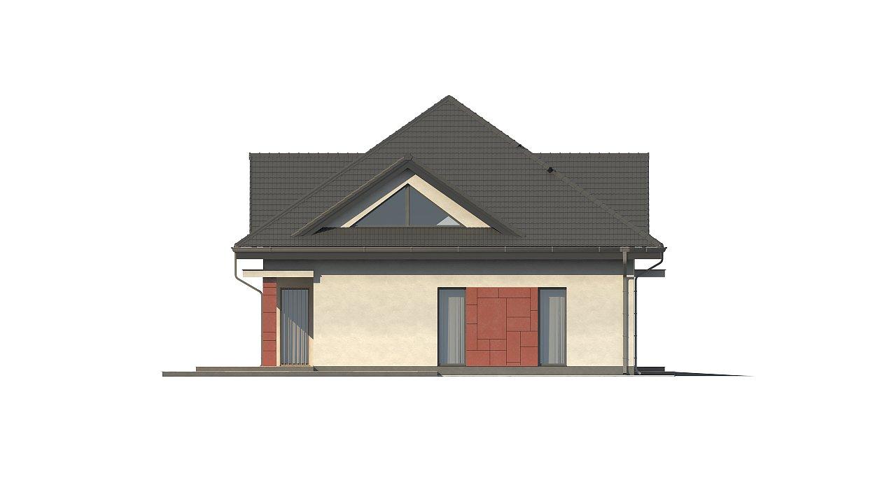 Практичный дом со встроенными гаражом, с большой площадью остекления в гостиной. - фото 8