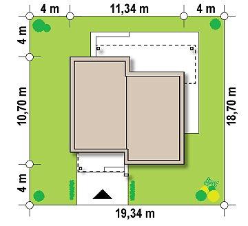 Небольшой дом из газобетона в стиле хай-тек — элегантный, практичный и экономичный. план помещений 1
