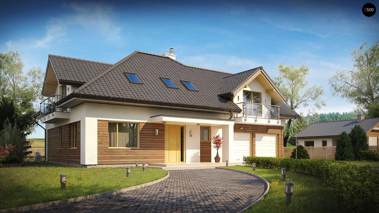 Просторный дом с большими фасадными окнами, с гаражом для двух автомобилей. - фото 2
