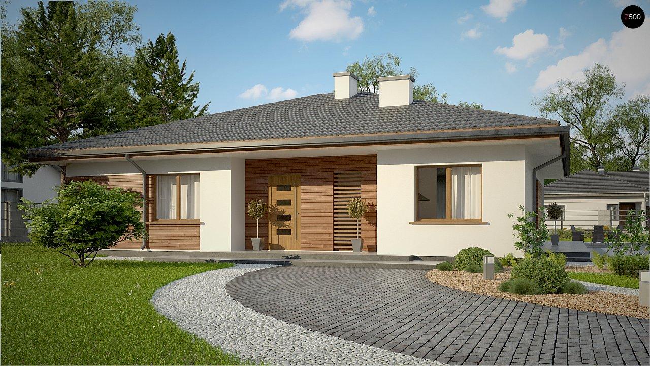 Стильный одноэтажный дом с комфортной крытой террасой 6