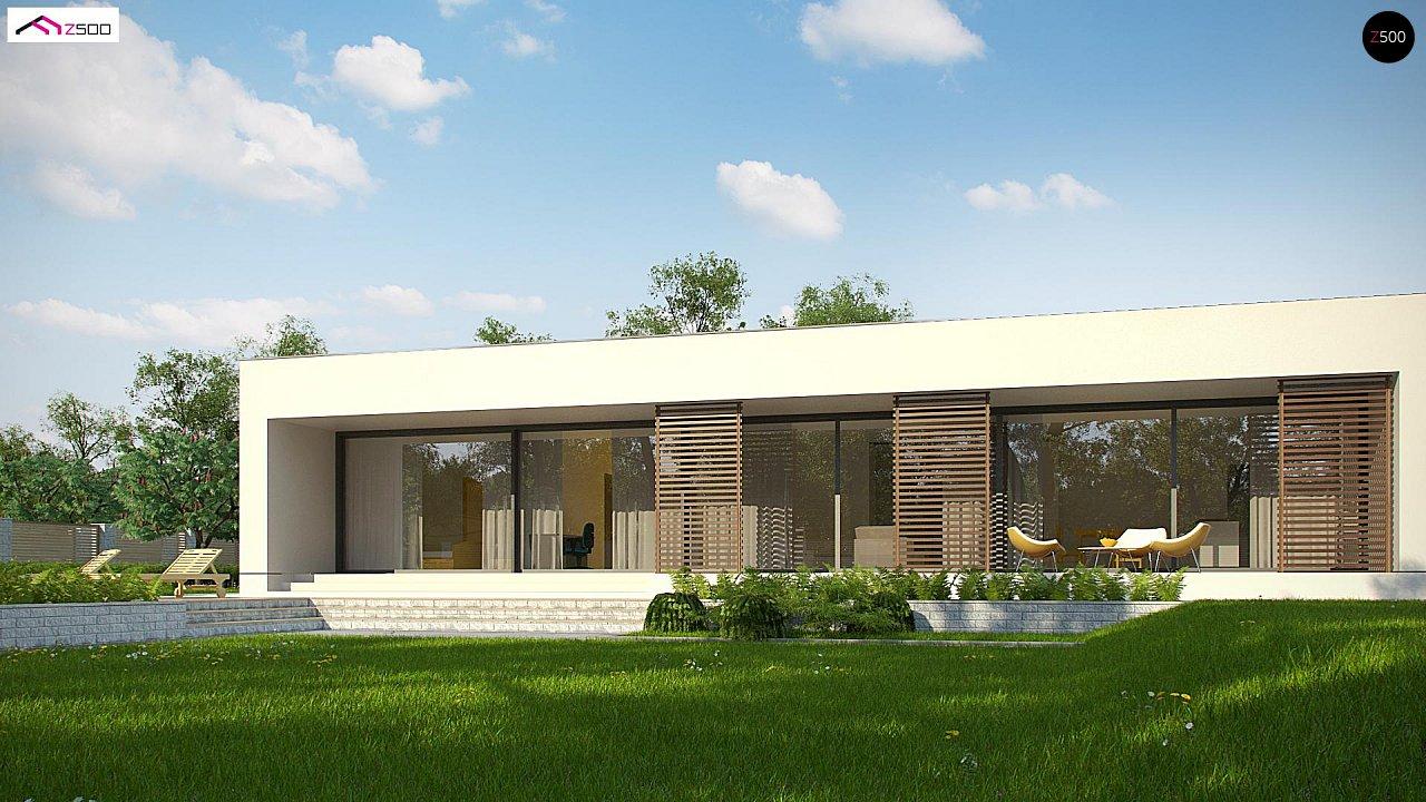 Современный дом с 4 спальнями, гаражом на 2 машины и большими окнами 8