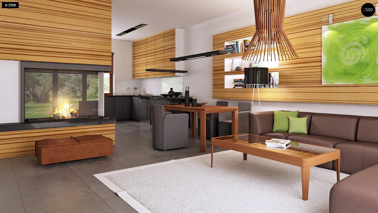 Проект одноэтажного практичного и уютного дома с крытой террасой. 7