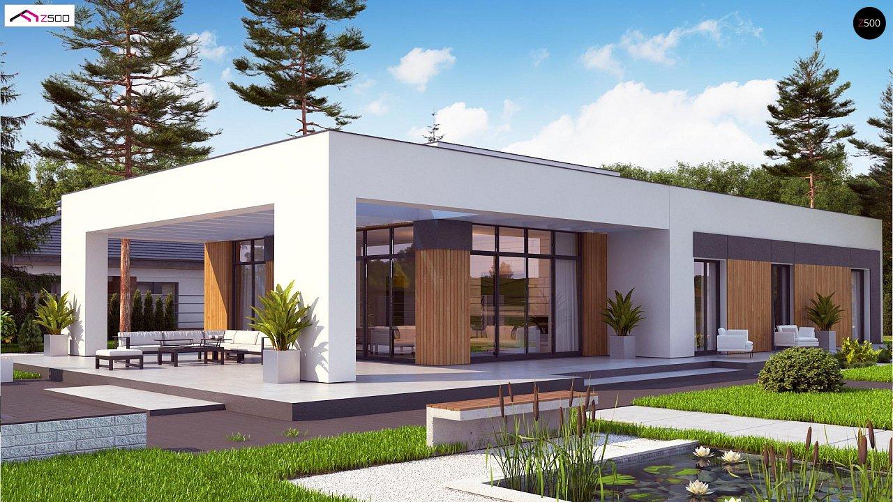 Проект стильного одноэтажного дома в современном стиле 3