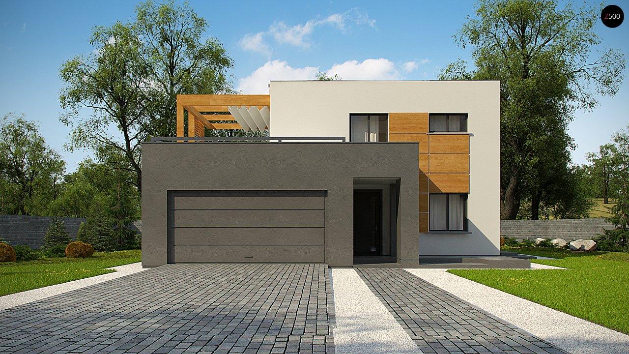 Двухэтажный коттедж современного лаконичного дизайна 2