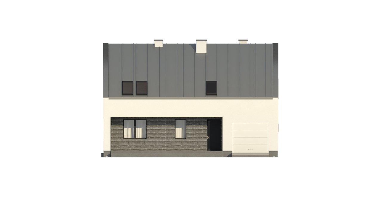 Проект мансардного с тремя спальнями и двускатной крышей 8