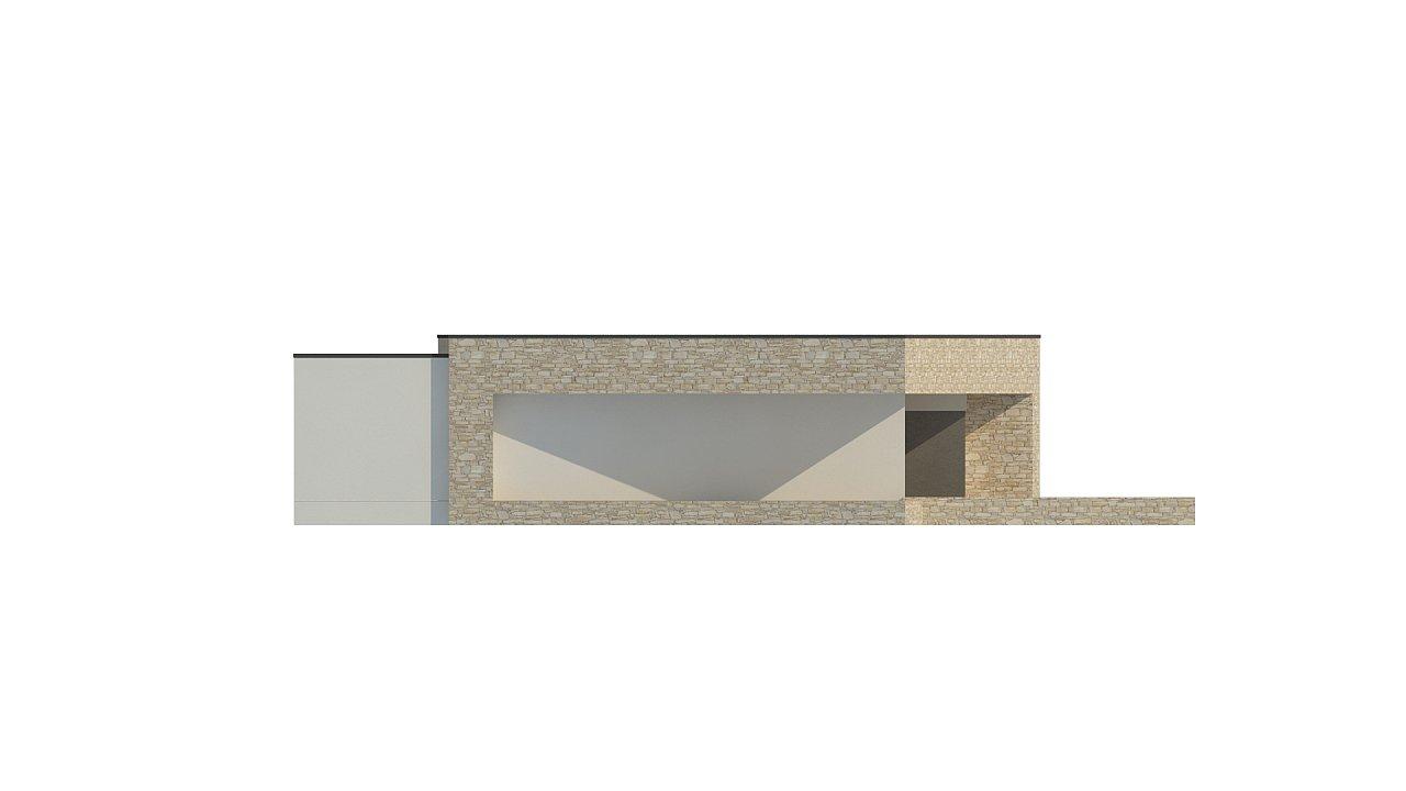 Одноэтажный коттедж с гаражом на одну машину и уютной террасой 12