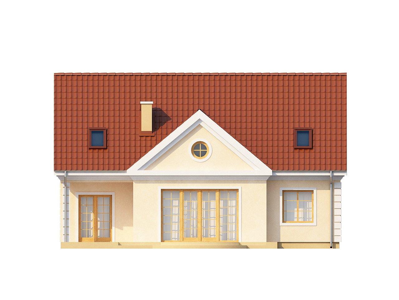 Аккуратный дом с мансардой и дополнительной спальней на первом этаже. - фото 4