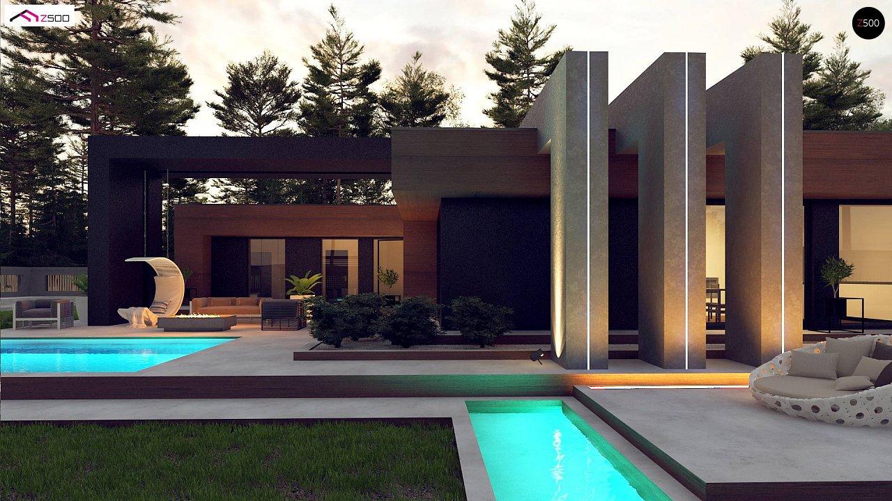 Современный дом с одноуровневой планировкой для большой семьи. - фото 3
