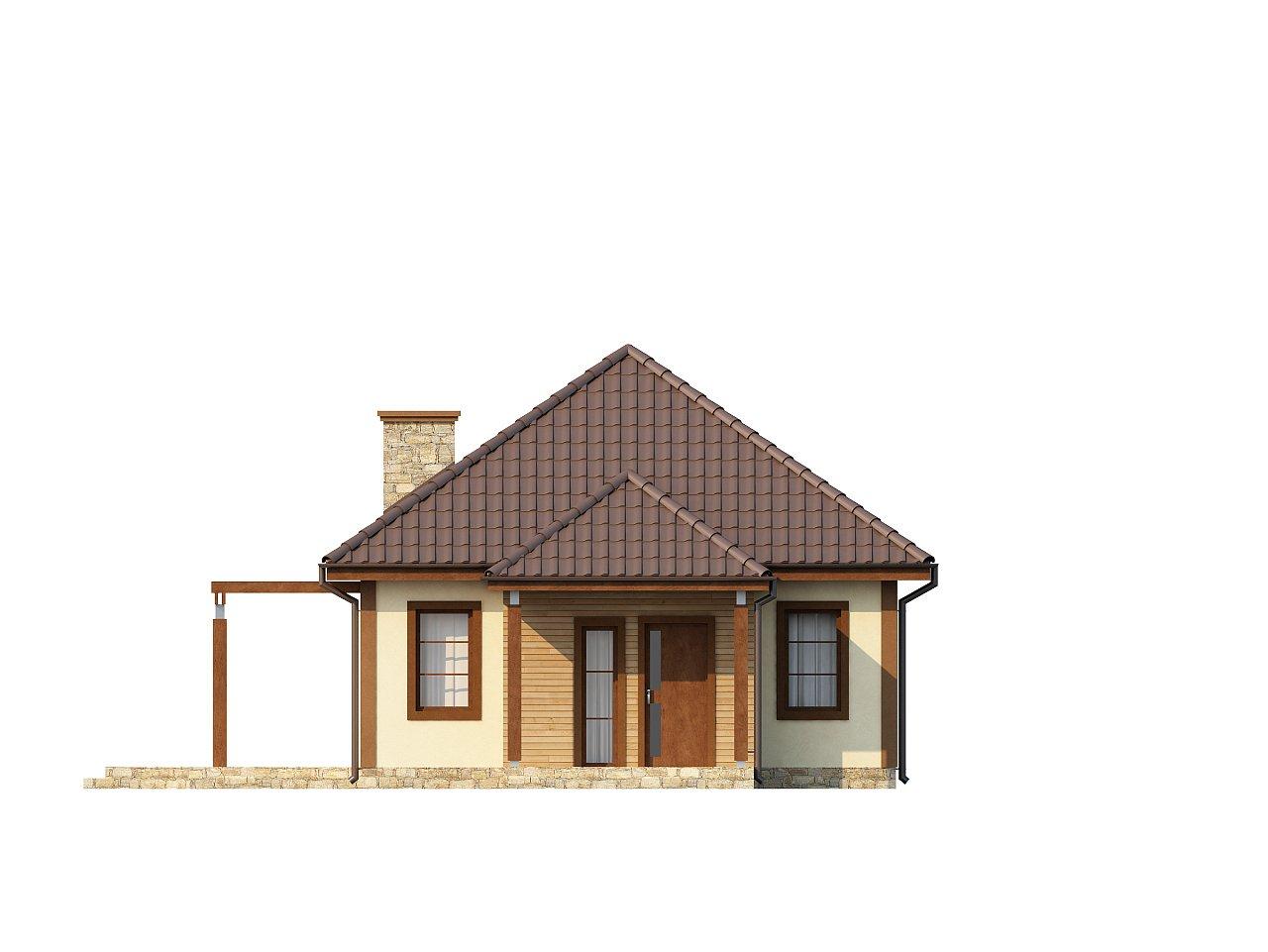 Проект маленького уютного дома с функциональной планировкой. Оснащен всем необходимым для постоянного проживания. - фото 3