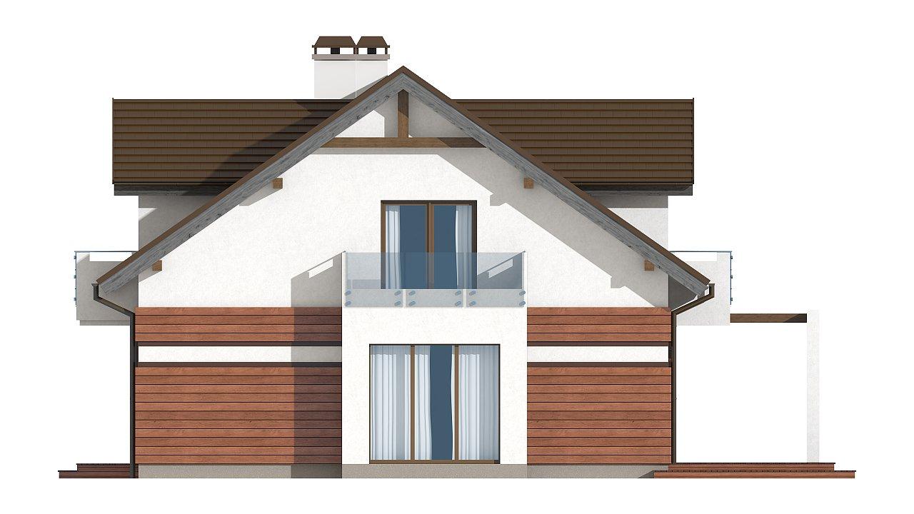 Версия проекта Z28 с небольшими изменениями в планировке, современным дизайном фасадов. - фото 4
