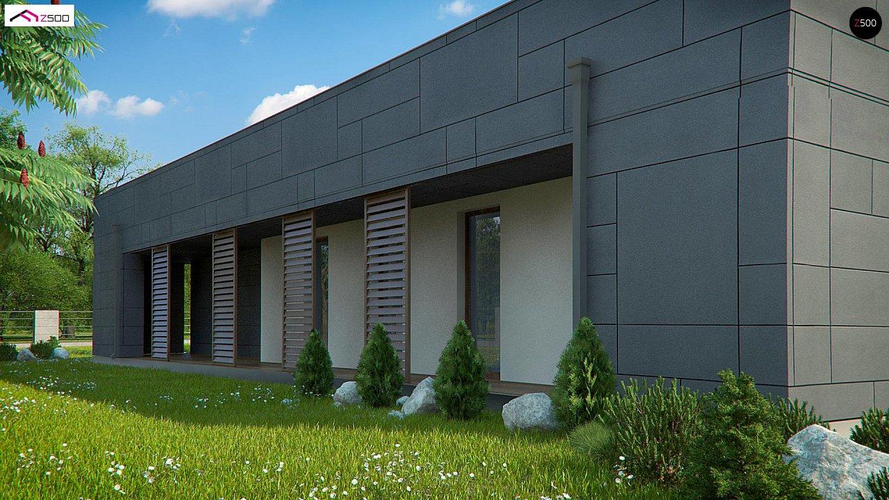 Современный односемейный одноэтажный дом с плоской крышей - фото 2