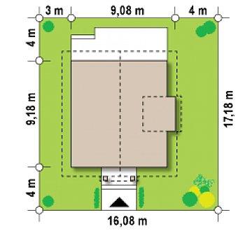 Проект компактного и функционального дома с кабинетом на первом этаже. план помещений 1