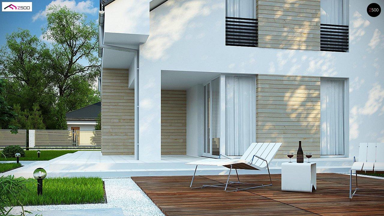 Проект мансардного дома в европейском стиле с балконом. - фото 5