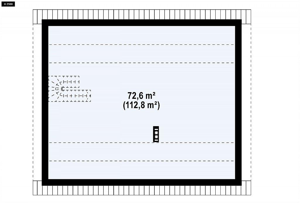 Уютный дом с двускатной кровлей и возможностью обустройства мансарды. план помещений 2