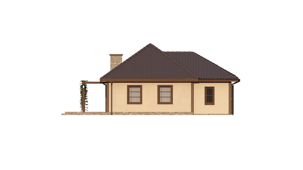 Зеркальная версия проекта Z73 с гаражом с левой стороны дома 4