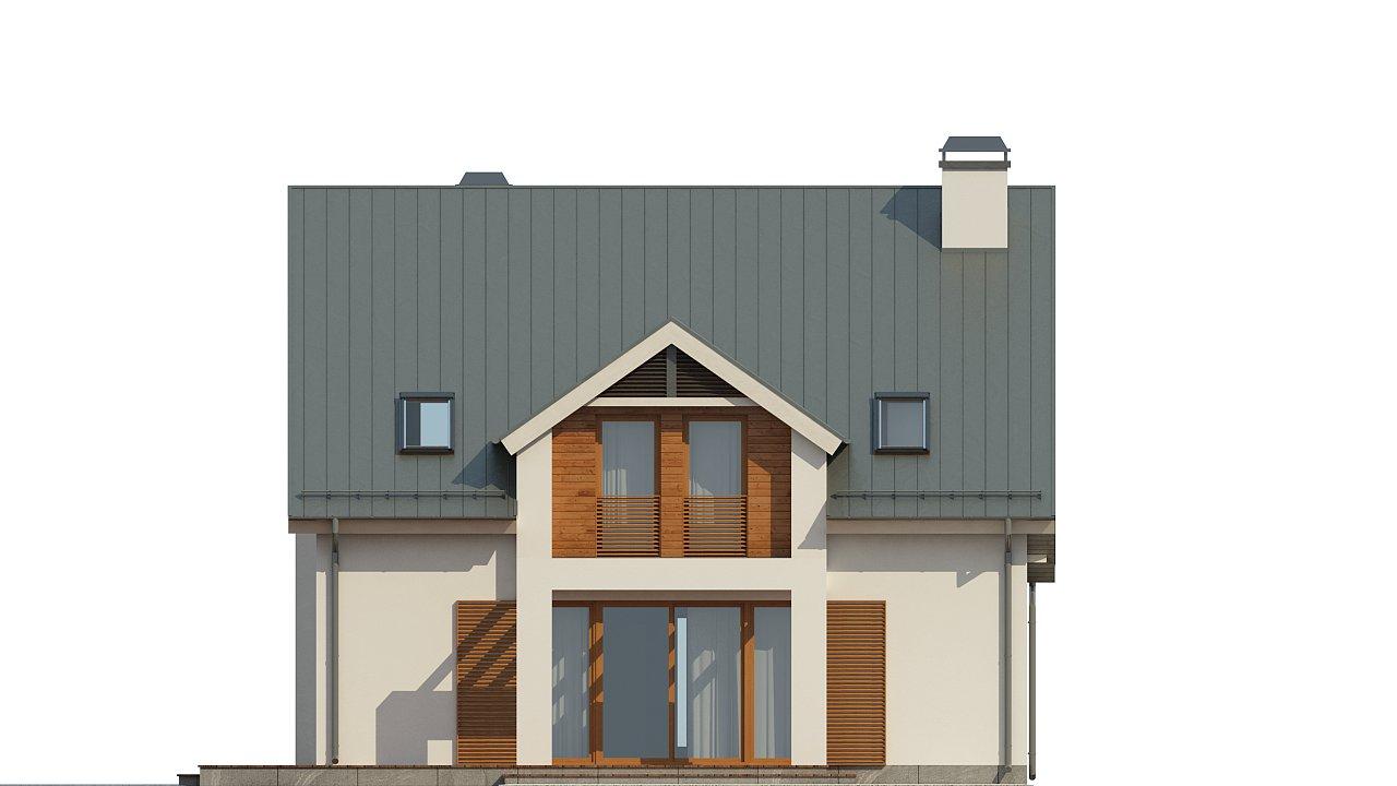 Дом традиционной формы с элегантными современными элементами в архитектуре. - фото 5