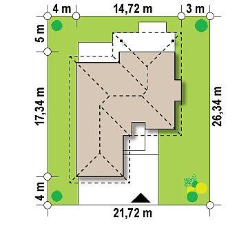 Одноэтажный дом с многоскатной крышей, с удобным функциональным интерьером. план помещений 1
