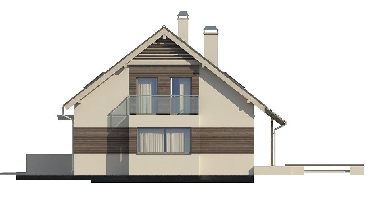 Удобный дом с эркером, балконом и террасой над гаражом. 4