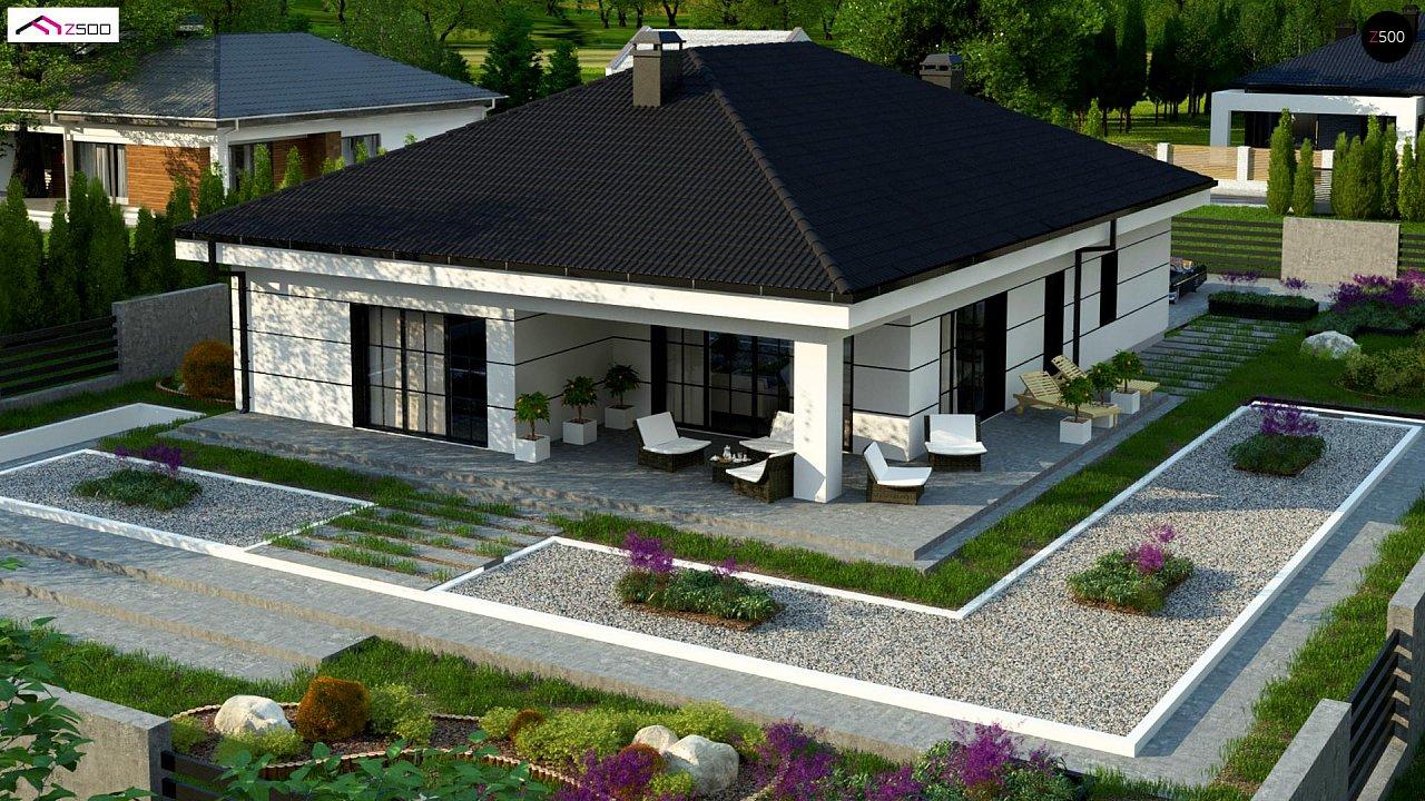 Современный одноэтажный дом с тремя спальнями и гаражом на одну позицию. - фото 6