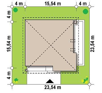 Проект просторного дома с многоскатной крышей. план помещений 1
