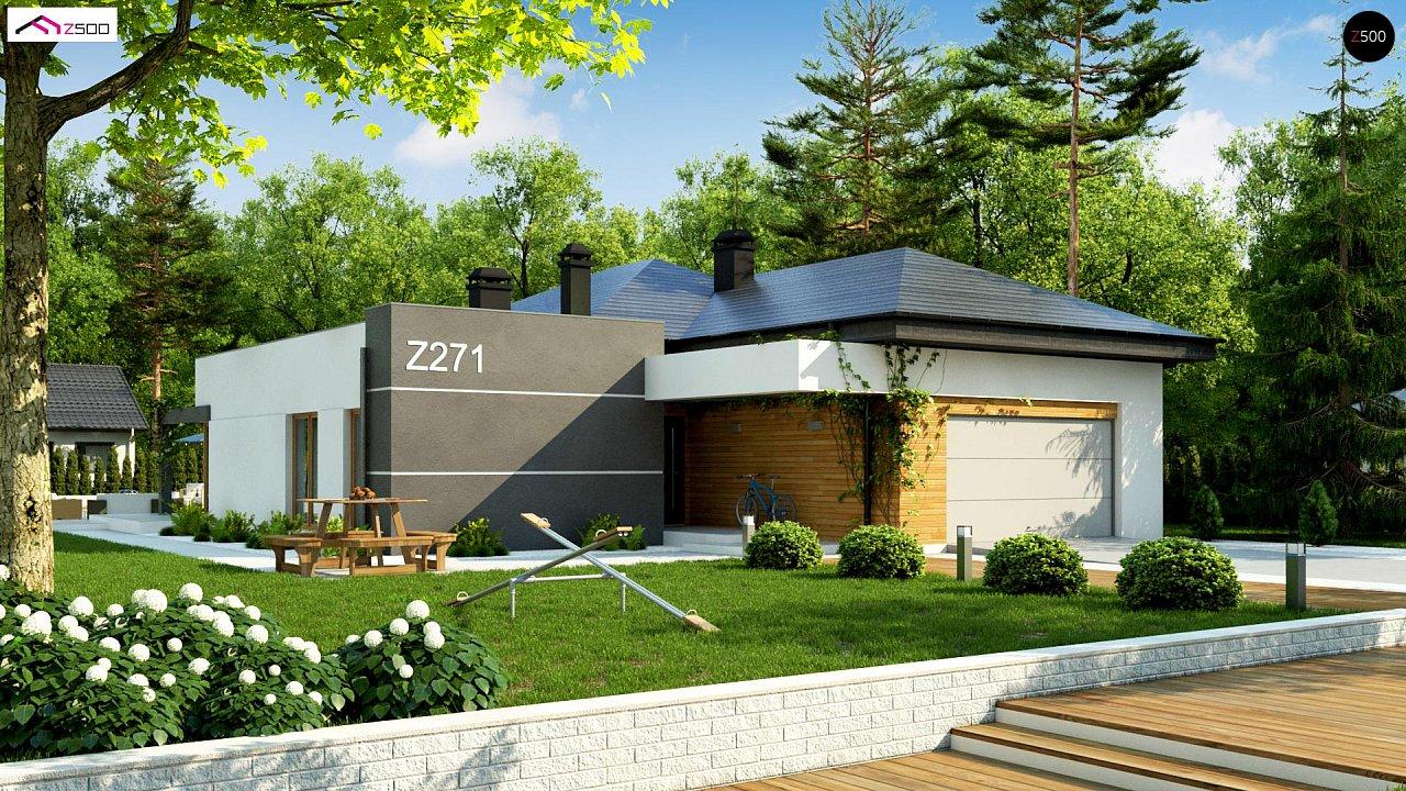 Современный дом с остроконечной крышей бунгало 2