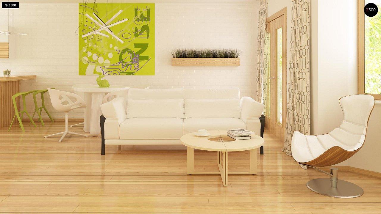 Выгодный и простой в строительстве дом с эркером в дневной зоне. 4