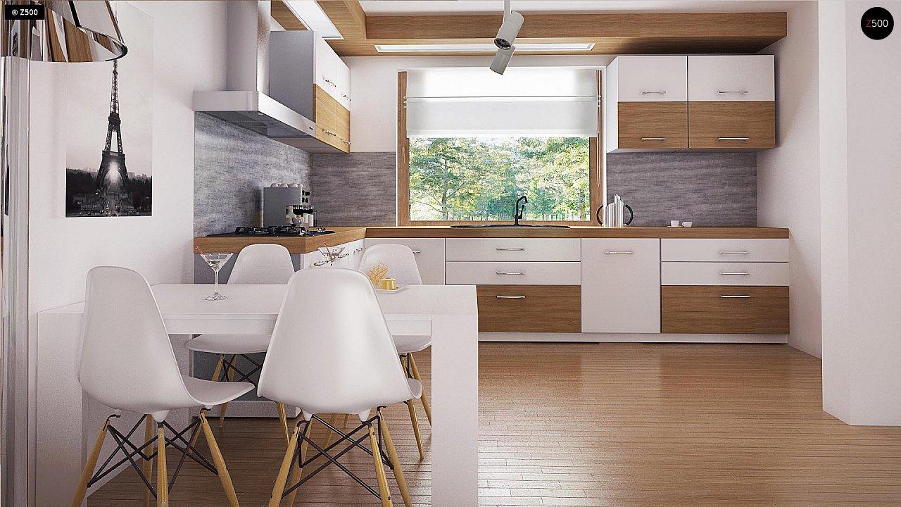 Экономичный в реализации одноэтажный дом с просторной гостиной и двумя спальнями. 6