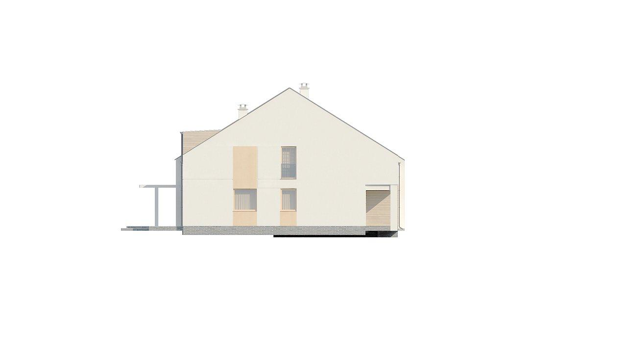 Проект домов для симметричной застройки стильного современного дизайна. 6