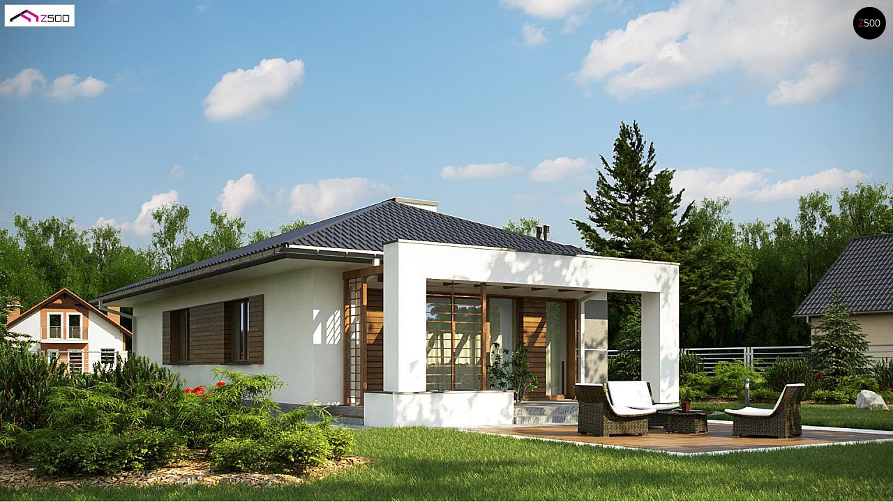 Одноэтажный функциональный дом для небольшой семьи - фото 3