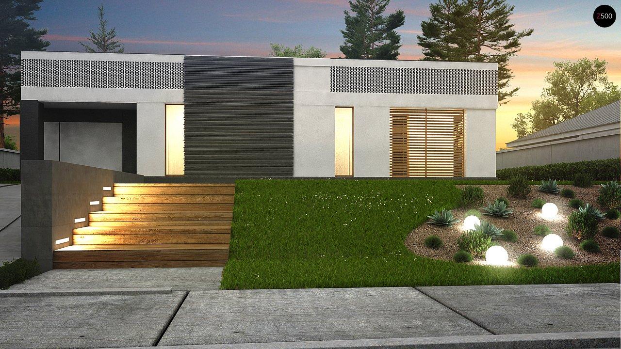 Проект дома в современном стиле с закрытой террасой - фото 4