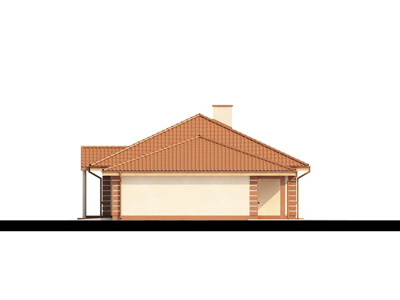 Стильный традиционный одноэтажный дом с гаражом для двух машин. 5