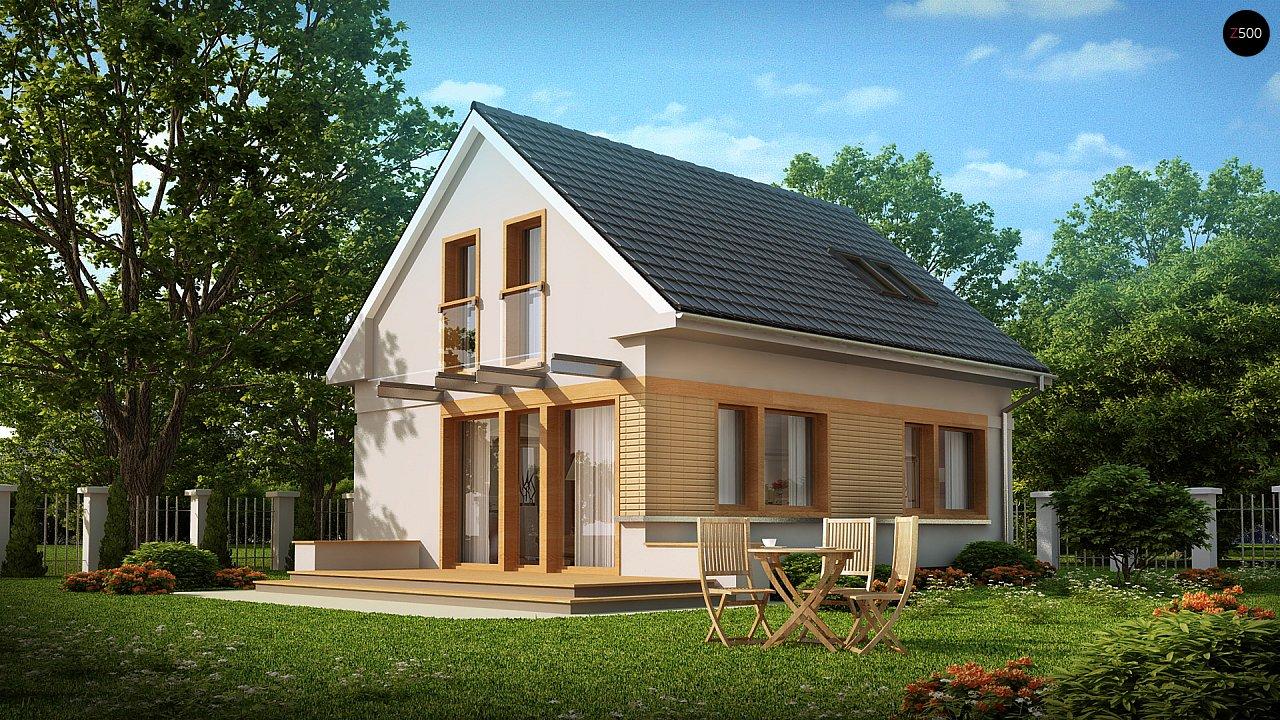 Компактный дом с дополнительной спальней на первом этаже, простой в строительстве, недорогой в эксплуатации. 1