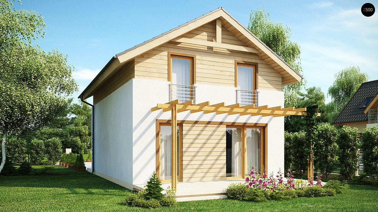 Простой и удобный дом для узкого участка с высокой аттиковой стеной. - фото 2